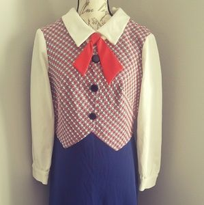Women's 1960s Vintage LGWU Maxi Dress